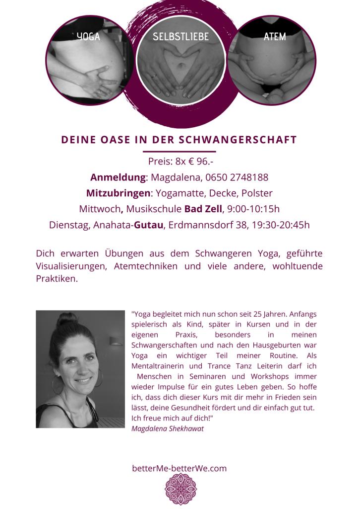 Yoga in der Schwangerschaft, Schwangeren Yoga in Gutau, Pränatal Yoga, Beckenboden-Training in der Schwangerschaft in Gutau im Bezirk Freistadt